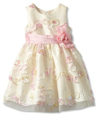 Jayne Copeland Girls 2-6X Floral Sequin Soutache Dress