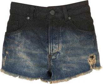 MOTO Oil Dip Dye Hotpants