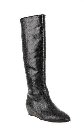 Loeffler Randall Matilde Embossed Snake Boot in Black