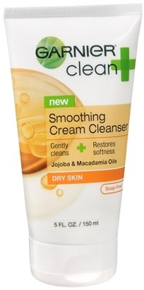 Garnier Clean + Smoothing Cream Cleanser for Dry Skin 5.0fl oz