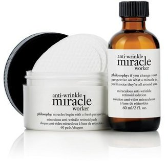 Philosophy 'Anti-Wrinkle Miracle Worker' Retinoid Pads & Elixir $75 thestylecure.com
