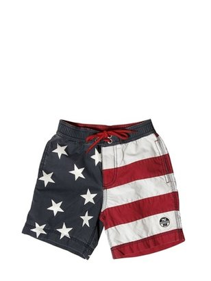 North Sails Washed Nylon Swimming Trunks