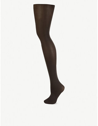 Falke Women's 3529 Anthra New Black Pure Matt 50 Denier Tights, Size: L