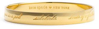 Women's Kate Spade New York 'Idiom - Bridesmaid' Bangle $58 thestylecure.com