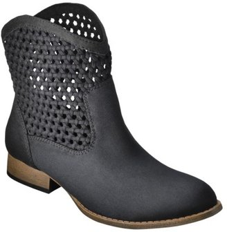Mossimo Women's Katelyn Woven Top Ankle Boot - Black