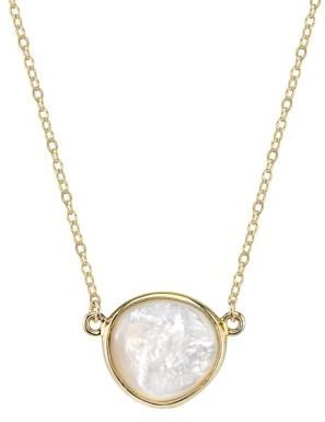 Lord & Taylor 14Kt. Gold Necklace with Mother of Pearl Pendant