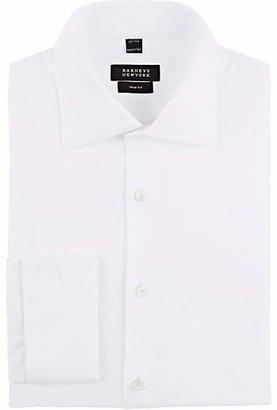 Barneys New York Men's Piqué Trim-Fit Shirt - White
