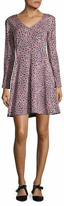 Diane von Furstenberg Floral Long-Sleeve Dress