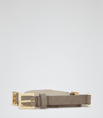 Reiss Adelaide GATE CHAIN AND LEATHER BELT