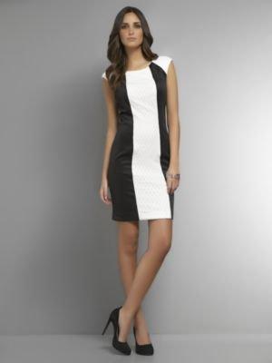 New York & Co. Black & White Sheath Dress