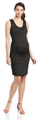 Ripe Maternity Women's Maternity Mia Stripe Fitted Tube Dress