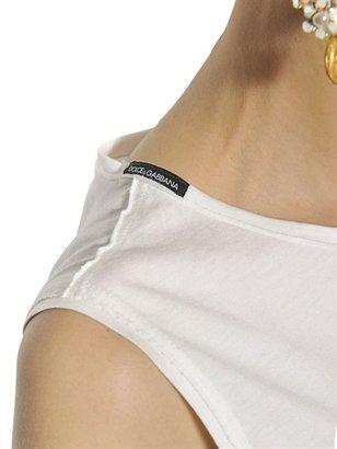 Dolce & Gabbana Printed Cotton Jersey Tank Top