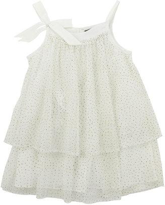 Lili Gaufrette Glitter Layered Tulle Dress, Ivory, 2Y-6Y