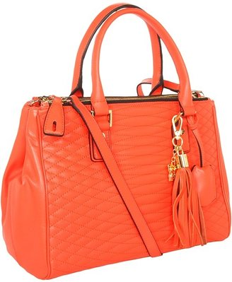BCBGMAXAZRIA Lucile Satchel (Poinsetta) - Bags and Luggage