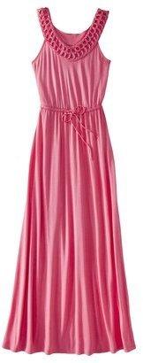 Merona Women's Crochet Neck Maxi Dress - Assorted Colors