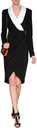 Prabal Gurung Wool Tuxedo Dress with Silk Lapel