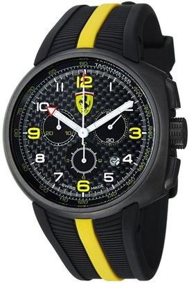 Ferrari Men's F1 Fast Lap Chronograph Black Carbon Fiber Dial Black Rubber FE10IPGUNCGFC Watch