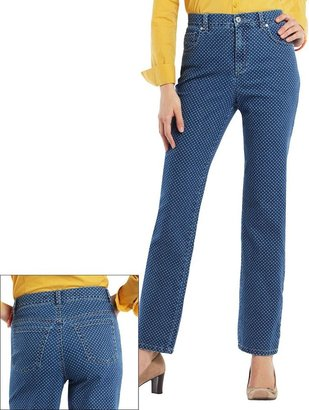 Gloria Vanderbilt amanda slimming polka-dot tapered jeans