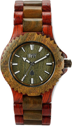 WeWood Watches Wooden, Brown/Army