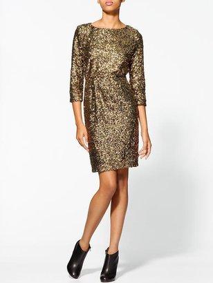 Miss Me Gold Sequin Dress
