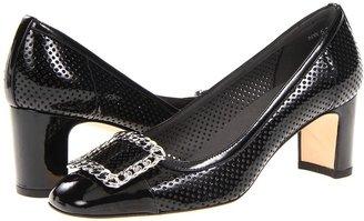 Stuart Weitzman Chainomid (Black Patent) - Footwear