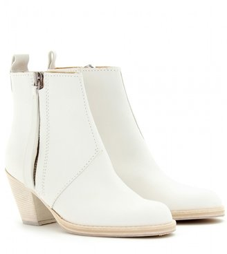 Acne Studios Pistol Short leather ankle boots