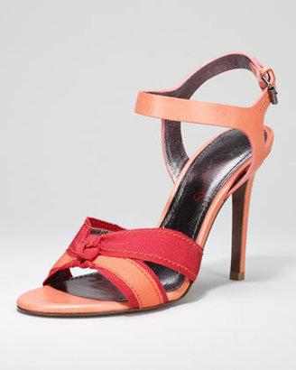 Lanvin Grosgrain-Trimmed Sandal