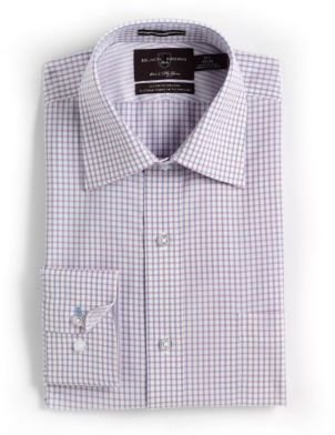 Black Brown 1826 Checked Cotton Dress Shirt