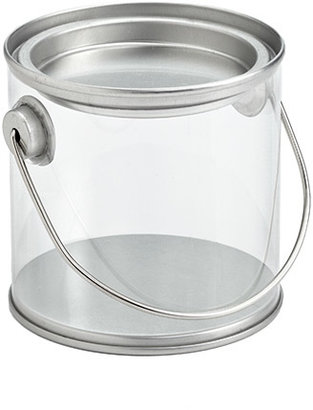 Container Store Paint Can with Handle Clear