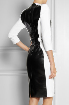 Altuzarra Baxter stretch-jersey crepe and faux leather dress
