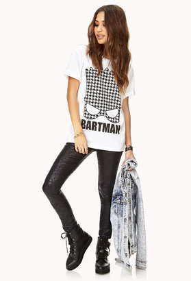 Forever 21 houndstooth bartman tee