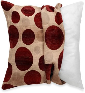 Bed Bath & Beyond MYOP Ombre Circles Square Throw Pillow Cover in Red/Taupe