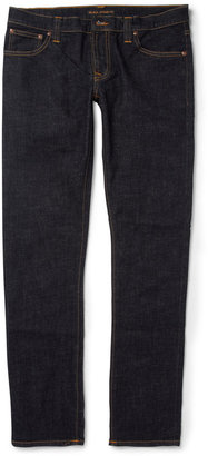 Nudie Jeans Long John Skinny-Fit Rinsed-Denim Jeans $165 thestylecure.com
