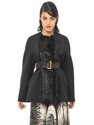 Marni Beaver And Wool Felt Jacket