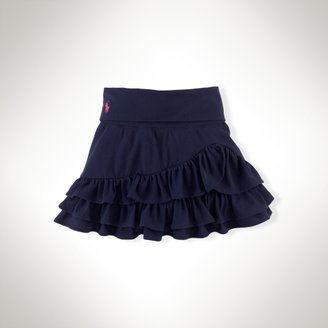 Knit Ruffled Cotton Skirt