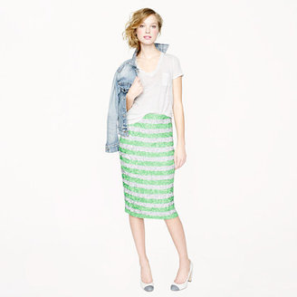 J.Crew Collection pencil skirt in swirled sequin stripe