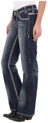 Rock and Roll Cowgirl Riding Boot Cut in Dark Vintage