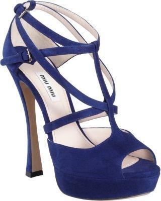 Miu Miu Strappy Peep Toe Platform Sandal