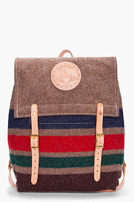 Yuketen Striped Wool Canoe Backpack
