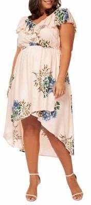 Dex Plus Floral Ruffled Dress