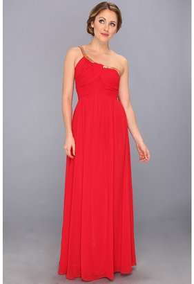 Calvin Klein One-Shoulder Empire Dress CD3B1ZHP (Red) - Apparel