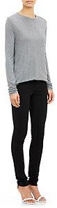 T by Alexander Wang Women's Single-Pocket Long-Sleeve T-Shirt-GREY, DARK GREY