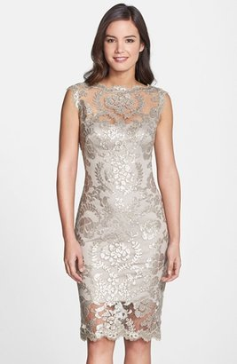 Women's Tadashi Shoji Sequin Illusion Lace Dress $298 thestylecure.com