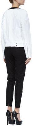 Robert Rodriguez Solid-Trim Lace Sweatshirt