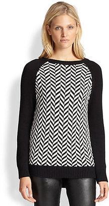 MICHAEL Michael Kors Herringbone Sweater