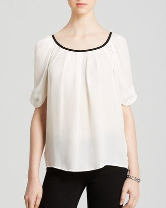 Joie Blouse - Eleanor C Pleated Trim $218 thestylecure.com
