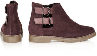 Topshop MAJESTIC Cut Out Suede Boots