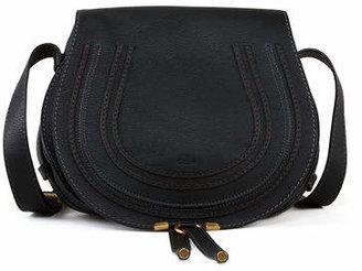 Chloé Marcie Medium Leather Crossbody Bag, Gray