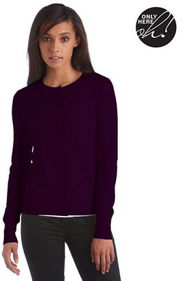 Lord & Taylor Fall Brights Collection Cashmere Crewneck Cardigan