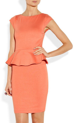 Alice + Olivia Victoria stretch-jersey peplum dress
